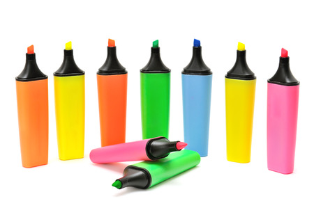 marker pen: markers isolated on a white background