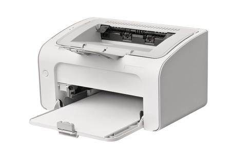 typer: laser printer isolated on a white background