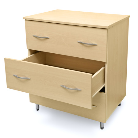 highboy: chest of drawers isolated on a white background