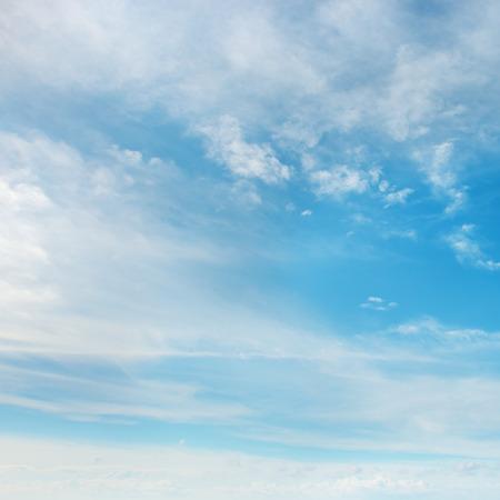 rainclouds: Beautiful fluffy clouds on blue sky