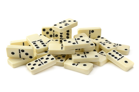 gambling stone: dominoes isolated on a white background