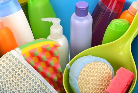 productos quimicos: Detergentes Set Foto de archivo