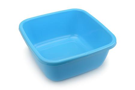handbasin: blue bowl isolated on white background Stock Photo