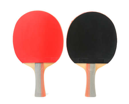 table tennis: table tennis rackets isolated on white background