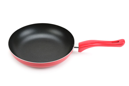frying pan: Large frying pan isolated on white background