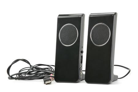Speakers isolated on white background photo