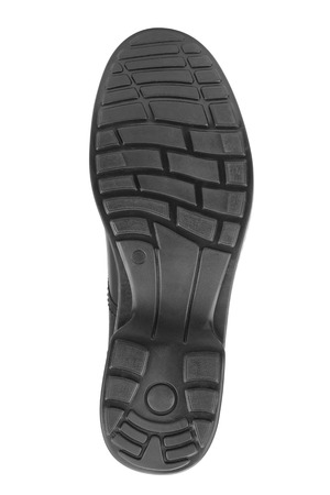 rubber sole: sole of shoe isolated on white background Stock Photo