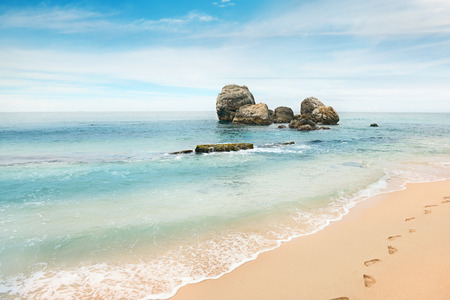 breeze: large rock in the ocean
