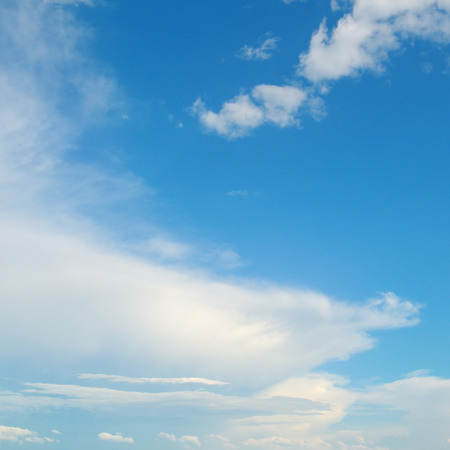 rainclouds: Blue sky and white clouds Stock Photo