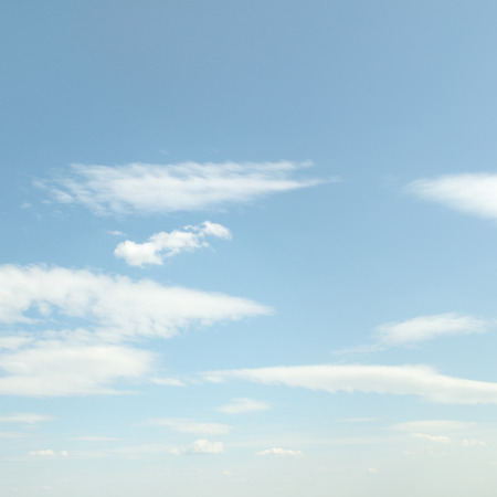 white clouds: white fluffy clouds on sky Stock Photo