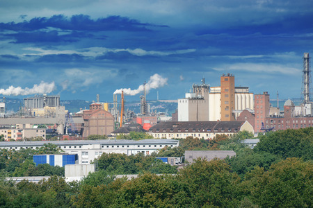 Nuclear waste: Large factory and dark clouds