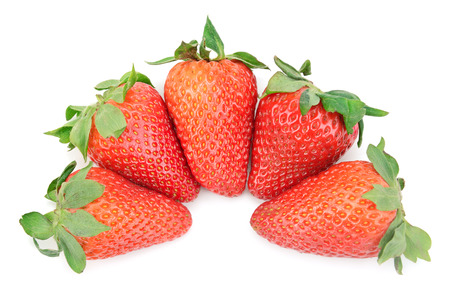 bacca: strawberry isolated on a white background Stock Photo