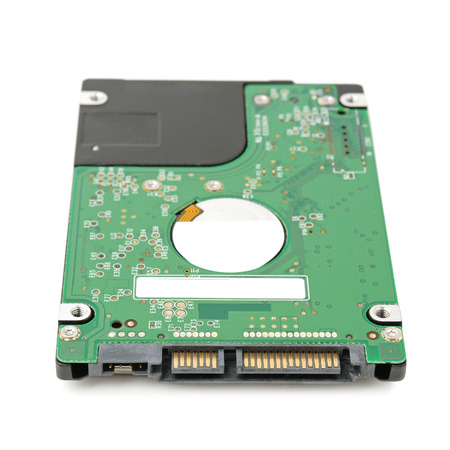 diskdrive: hard disk isolated on a white background