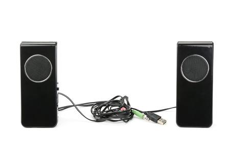 speaker system: Speakers isolated on white background Stock Photo