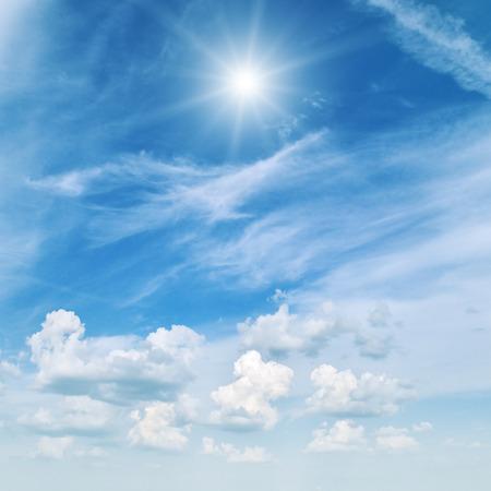 sunlight sky: sun on beautiful blue sky