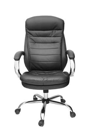 sillon: silla de oficina aislado sobre fondo blanco  Foto de archivo
