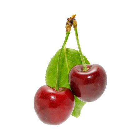 cherries isolated: sweet cherries isolated on a white