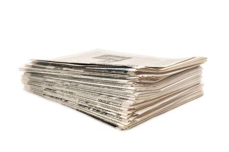 evening newspaper: newspapers isolated on a white