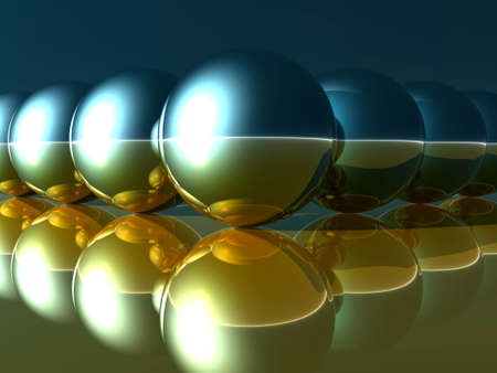 abstract balls and their reflections Stock Photo - 526386