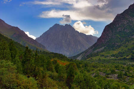 locality: mountain locality in the north of Kyrgyzstan Stock Photo