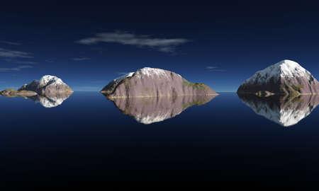 onbewoond: onbewoond eiland in het midden van de oceaan grenzeloos Stockfoto