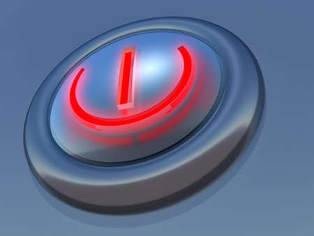 simple button in blue execution with the speck of light Stock Photo - 575237