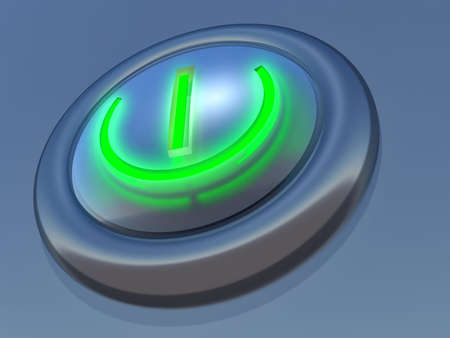 simple button in blue execution with the speck of light Stock Photo - 575244