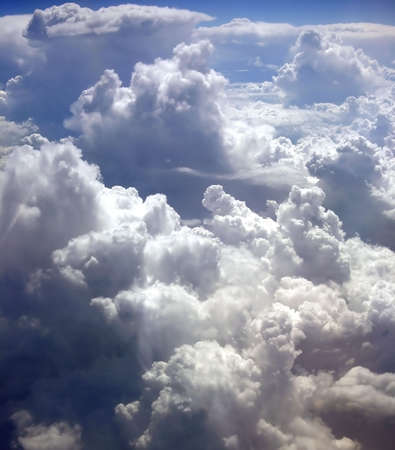 firmament: kind on clouds on a background a firmament from an airplane