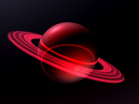 macrocosm: an unknown blue planet travels on spaces of universe