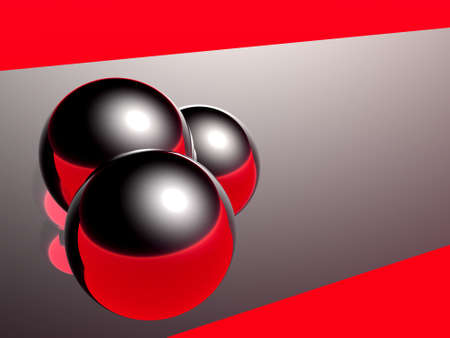 abstract balls and their reflections Stock Photo - 637273