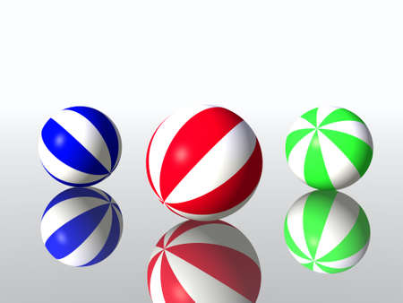 varicoloured childs balls for games outdoor photo