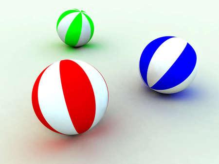 varicoloured childs balls for games photo