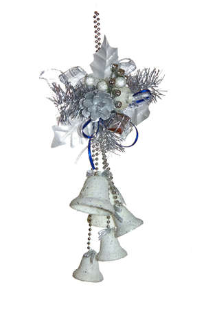 new-year decoration from bows and bluebells on a white background Stock Photo - 637627