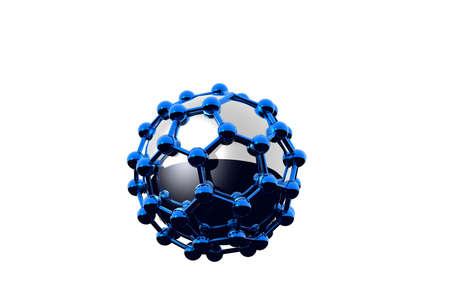 abstract balls and their reflections Stock Photo - 664473