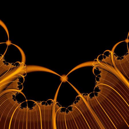 goldish: stylish paradisial plants of goldish tint on a homogeneous background