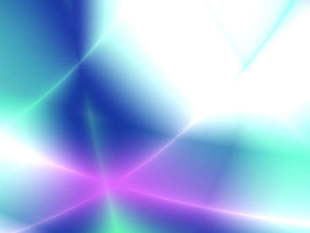 ray tracing: rays brightly green blue and violet color form an abstract picture