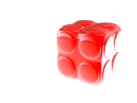 red childs block for games in outdoor on a white background photo