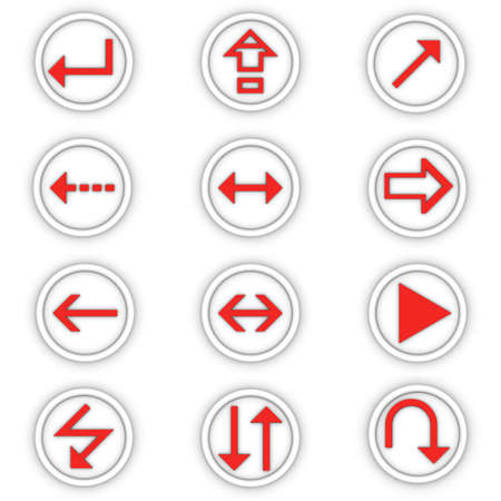 set of round icons for a design with the pointers of direction photo