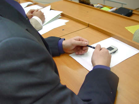 hands of business men, present on the corporate meeting photo