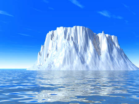 snow-white cold iceberg on a background marine waves and sky Stock Photo - 1574684