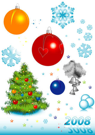 Vector icons and symbols to the Christmas, new year and other winter holidays Stock Vector - 1932080