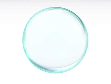water molecule: Resumen l�quido de color azul transparente con la pelota part�culas de la luz y reflexiones sobre un fondo blanco  Foto de archivo