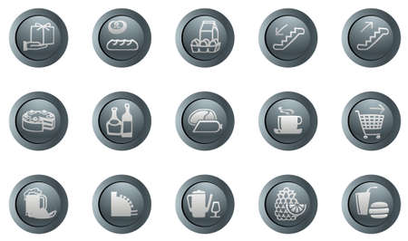set of vector round icons for a design with the different symbols Stock Vector - 2037916