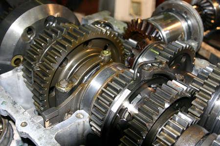 plentiful: Set linked metal gears the automobile mechanism in plentiful greasing