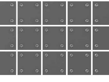 grey metallic tablets is bound screw-bolts on a white background photo