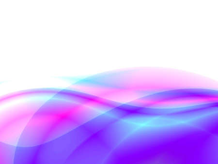 purple silk: abstract waves, overflowing the tints of blue color on a white background