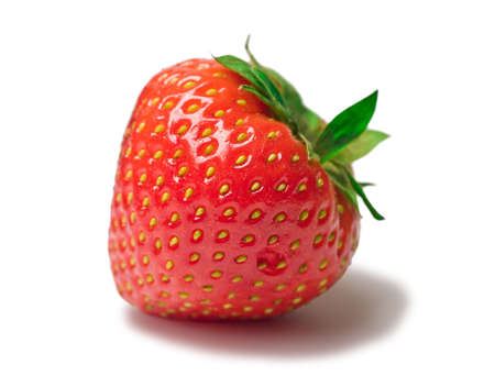appetizing brightly red strawberry on a white background Stock Photo - 3552997