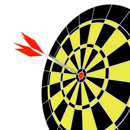 Dart and target for leisure game on a white background Stock Photo - 4010413
