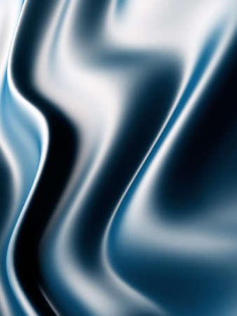 Abstract background from waves from blue gentle silk photo