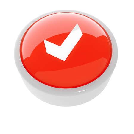 achtung schild: rote Taste mit einer Vorsicht Zeichen auf wei�em Hintergrund